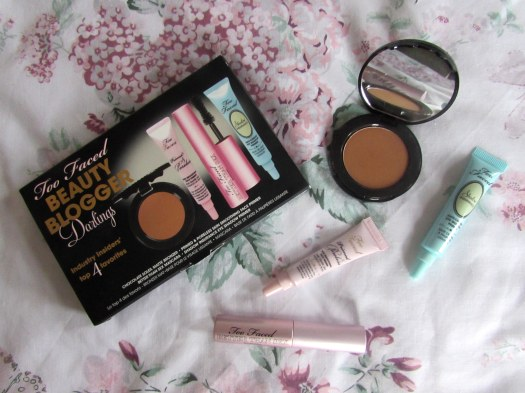 too faced beauty blogger darlings makeup better than sex mascara chocolate soleil matte bronzer shadow insurance primed and poreless face primer
