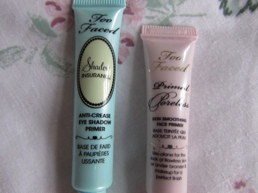 too faced eyeshadow primer shadow insurance primed and poreless face primer