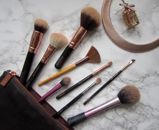 best makeup brushes favourite favorite zoeva ecotools real techniques rose gold