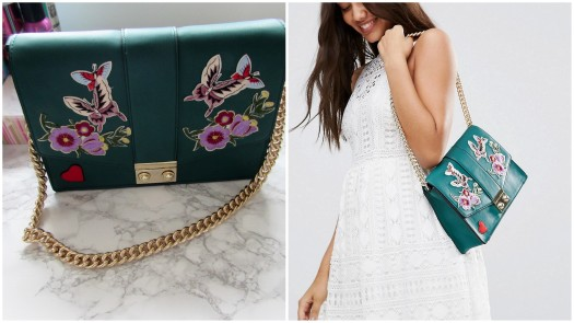 asos-butterfly-badge-bag-gucci-inspired-green-embroidery-embroidered-handbag-gold-chain