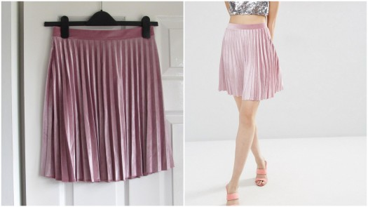 asos-pink-pleated-pleat-velvet-mini-skirt