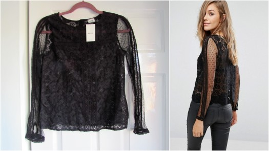 asos Pimkie All Over Lace Long Sleeve Top - Black.jpg