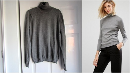 mango-ribbed-side-knitted-roll-neck-jumper-grey