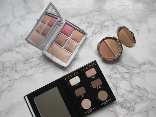 hourglass ambient lighting edit surreal light face palette becca champagne split highlight blush duo amaretto prosecco pop kevyn aucoin the contour book