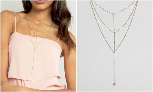 Limited Edition Multirow Triangle Chain Necklace