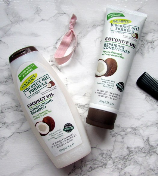 palmer's coconut oil formula conditioning shampoo repairing conditioner review