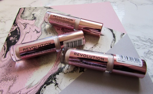 makeup revolution london conceal and define full coverage concealer contour review c3